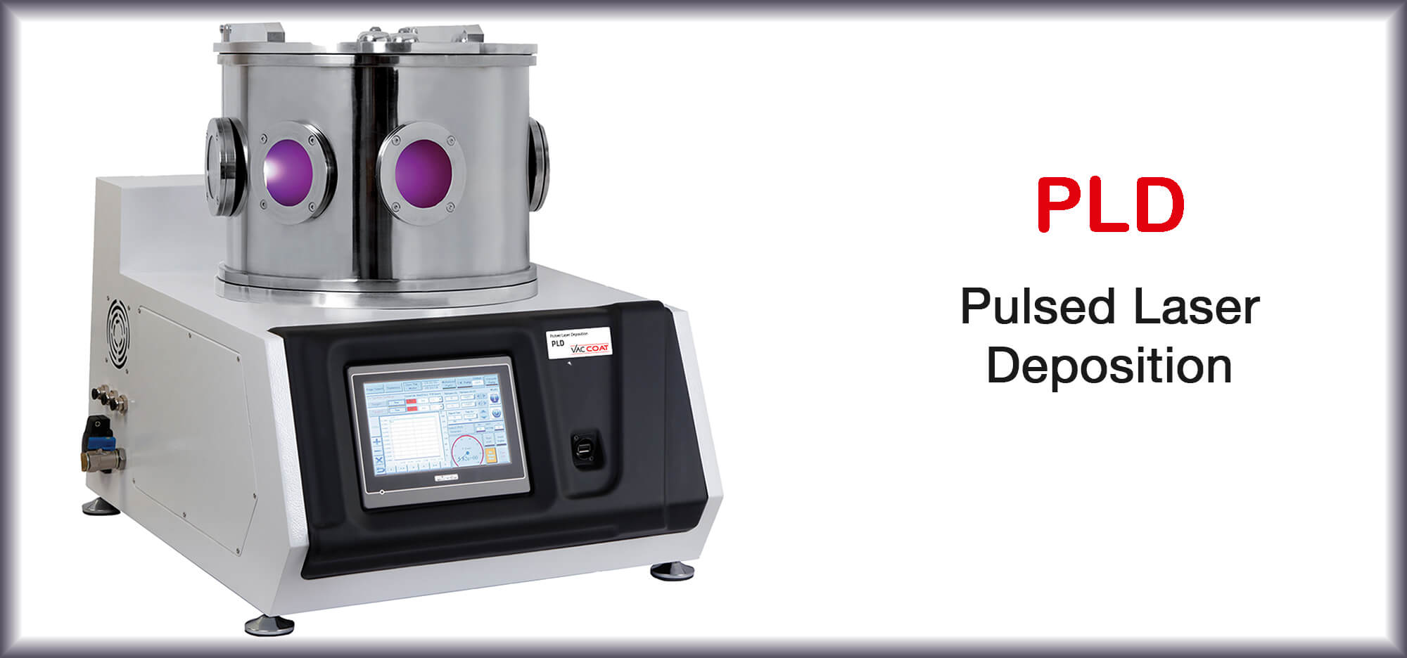 Pulsed Laser Deposition System - PLD-T | VacCoat Product